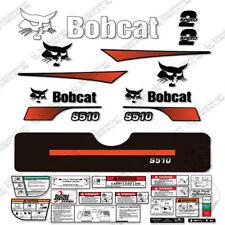 Bobcat S510 Compact Track Loader Decal Kit Skid Steer (Curved Stripes)