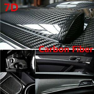 Carbon Fiber Vinyl Film Car Interior Wrap Stickers Auto Accessories 7D Glossy
