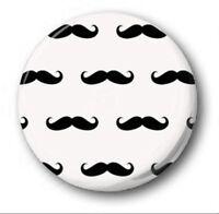 "MOUSTACHE WALLPAPER  - 25mm 1"" Button Badge - Cute Novelty Tash Mustache"