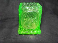 GREEN VASELINE  WEST VIRGINIA  TOOTHPICK HOLDER- MATCH HOLDER     (( ID121233 ))