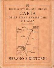 carta touring club merano e dintorni 1919
