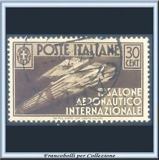 1935 Italia Regno Salone Aeronautico cent. 30 bruno n. 385 Usato