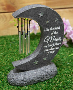 Graveside Moon Love Memorial Wind Chime Remembrance Outdoor Grave Memory Gift