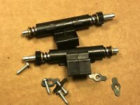 2 Dual 1256 1257 Hinges w/ Hardware - Vintage Turntable Parts