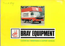 BRAY manutenzione e Supporto Veicoli Early 1980s UK Opuscolo Land Rover BEDFORD