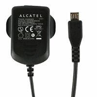 Genuine Alcatel Pack of 10 - Black 400 mAh 3 Pin Micro USB Mains Charger Suit...