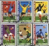 Sao Tome e Principe 754A-759A (kompl.Ausg.) gestempelt 1982 Fußball-WM in Spanie