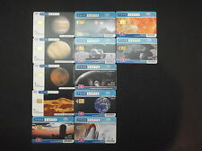 GRECE LOT 12 PHONECARDS FROM 2003-2007 WITH THEME: SPACE GREECE GRIECHENLAND !!!