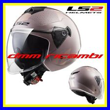 Casco DemiJet con visiera lunga LS2 OF573 TWISTER Combo Pale Pink Rosa Tg.XS