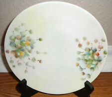 "Vintage Silesia Porcelain Plate Wall Decor Green Leaves 7 5/8"" Collectible"