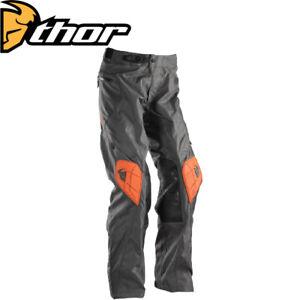 THOR Enduro Adventure Pants RANGER Charcoal/Orange MX Motocross Motorcycle