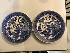 """Japan Blue Willow Dinner Plates 10"""" Set Of Two"""