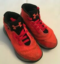 Under Armour Curry 3 Orange Basketball Shoes/Sneakers 1276275-810 Youth Size 13K
