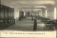 Sacket Harbor NY Co L 9th Infantry c1905 Rotograph Postcard