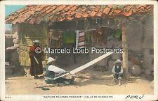 PERU VALLE DE HUANCAYO NATIVOS TEJIENDO PONCHOS 62679 ED. SABLICH