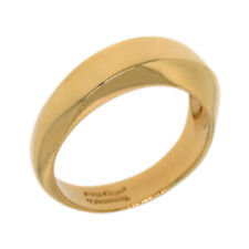 Tiffany&Co. Italy 18K Yellow Gold 6MM Twisted Wave Wedding Band Ring Size 6.25
