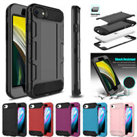 For iPhone 7 8 SE 2020 Case Hybrid Heavy Duty Shockproof Rugged Hard Armor Cover