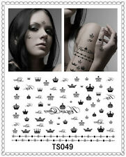 Crown Temporary Tattoo Sticker DIY Keep 3-5 days Waterproof 14x9cm TS049