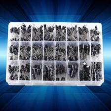 24 Values 500pcs Electrolytic Capacitor Assortment Box Kit 0.1UF-1000UF inm