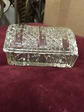 VINTAGE DEPRESSION GLASS BUTTER/CHEESE DISH  w/LIFT OFF LID