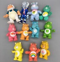 Lot of 11 Vintage 1980'S Posable Care Bears PVC Figures - Fast Ship - F28
