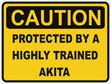 Razza di cane Akita CAUTION STICKER PET PER PARAURTI PER AUTO CAMION Armadietto Porta Frigo