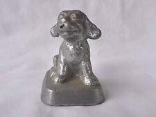 Art Deco Aluminum Miniature Jack Russell Puppy Dog Figurine