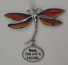 bb Nana your love is a blessing DELIGHTFUL DRAGONFLY ORNAMENT CAR CHARM Ganz