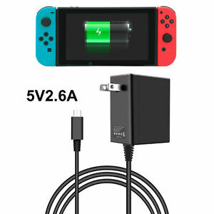 For Nintendo Switch AC Power Supply Adapter Home Wall Travel Charger 2.6A 5V NEW