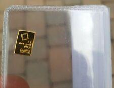 Gold 24k One Gram Bar Marked 999,9 Fine Gold Essayeur Fondeur