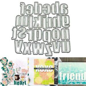 Stanzschablone/ Cutting dies Alphabet Buchstaben abc Big Shot DIY