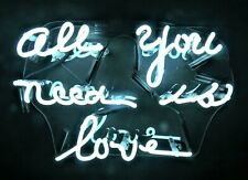"""All You Need Is Love"" Neon Sign Wall Decor Artwork Light Lamp Display"