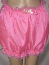 SISSY HOT PINT LIGHT SATIN SILKY LACE BLOOMERS MAID ADULT BABY BIG PANTIES CD-TV
