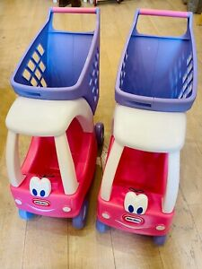 Little Tikes Princess Cozy Coupe Shopping Cart Pushalong Trolley Pink