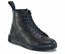DR MARTENS Talib Men Lace Up BOOTS Navy Blue Leather 8 Eye Size US 13 EU 47