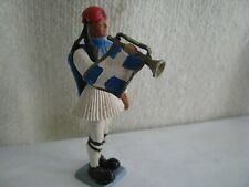toy soldier- Greek Evzone- bugle- Aohna