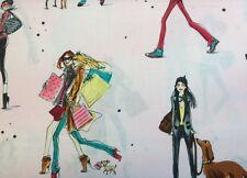 Robert Kaufman WHO'S THAT GIRL (Pink) 100% Cotton Prem Quilt Fabric - Per 1/2 yd