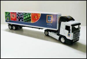 Scania P400 Cab with Trailer 1/43 Trucks - Aldi Custom Graphics Diecast/Plastic
