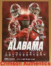2016 Alabama Crimson Tide Football Schedule Poster Jonathan Allen OJ Howard
