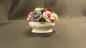 New With Tag Vintage Aynsley Bone China Flower Bouquet Hand Painted & Modeled