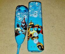 Nintendo Wii Skylanders Blue Remote & Nunchuk - Nice Working Controllers