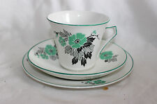 2 Trios Palissy Tea Cup Saucer Side Plate