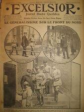 WW1 N° 2128 Gal JOFFRE ARTILLERIE BRITANNIQUE BENEDICTION RUSSES EXCELSIOR 1916