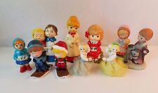 Vintage Christmas Paper Mache Ceramic Porcelain Figurine Lot Village Carolers