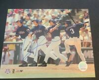 ALEX RODRIGUEZ SIGNED 8X10 PHOTO NY YANKEES TEXAS RANGERS W/COA+PROOF RARE WOW