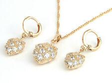 Schmuck Set Damenkette Anhänger Ohrringe 750er Gold / 18K vergoldet  1409