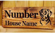Labrador Retriever Número De Casa Nombre Firmar Placa Placa Perro Personalizado De Oro