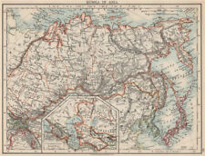 RUSSIA IN ASIA. Shows Trans-Siberian railway under construction  1903 old map