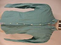 Gitman Bros Mens Green Plaid Long Sleeve Cotton Shirt M USA Made