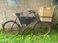 """An Original Antique delivery bike with makers mark """" elswick-Barton on Humber"""